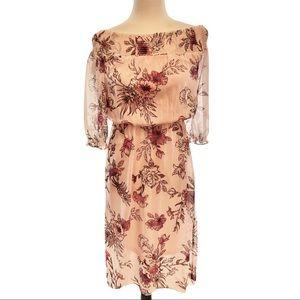 Reitmans off shoulder floral high low dress